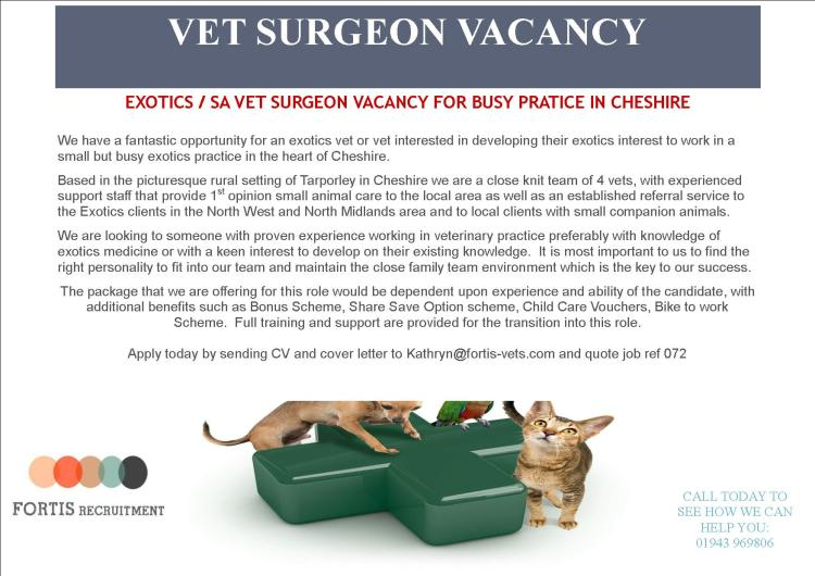 exotics-sa-vet-surgeon-vacancy-for-busy-pratice-in-cheshire