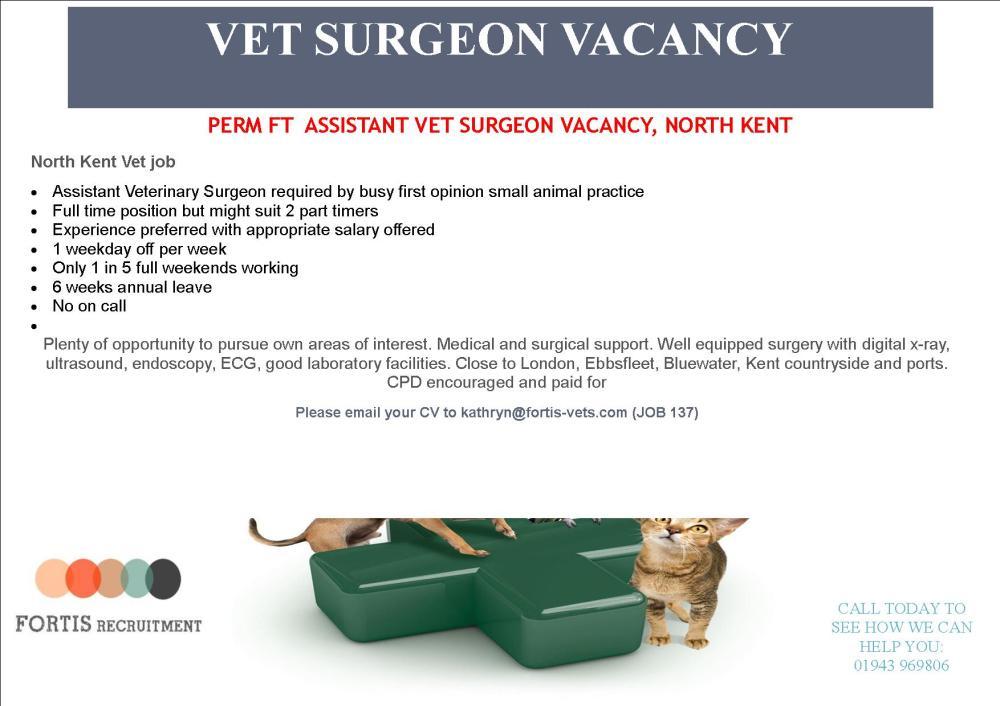 perm-ft-assistant-vet-surgeon-vacancy-north-kent