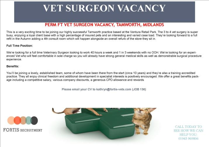 perm-ft-vet-surgeon-vacancy-tamworth-midlands