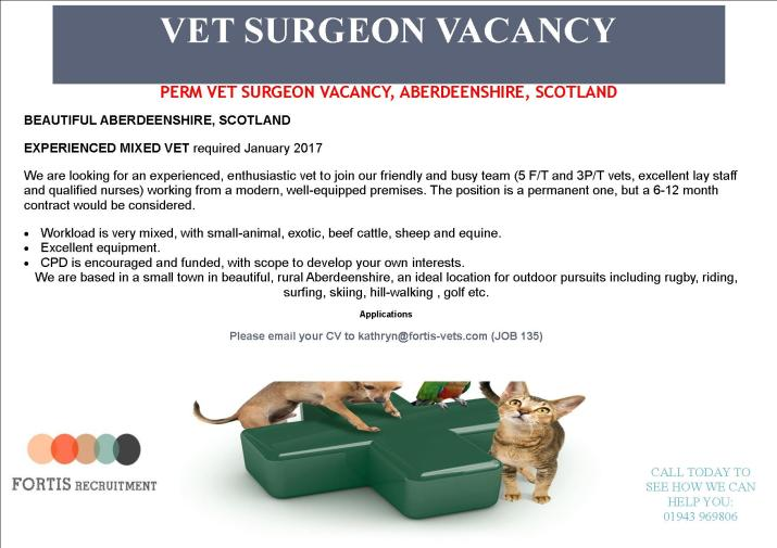 perm-vet-surgeon-vacancy-aberdeenshire-scotland