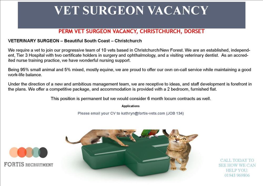 perm-vet-surgeon-vacancy-christchurch-dorset