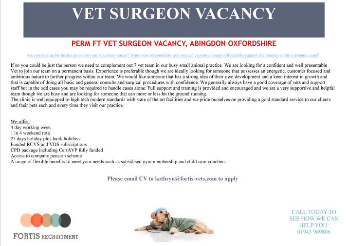 perm-ft-vet-surgeon-vacancy-abingdon-oxfordshire