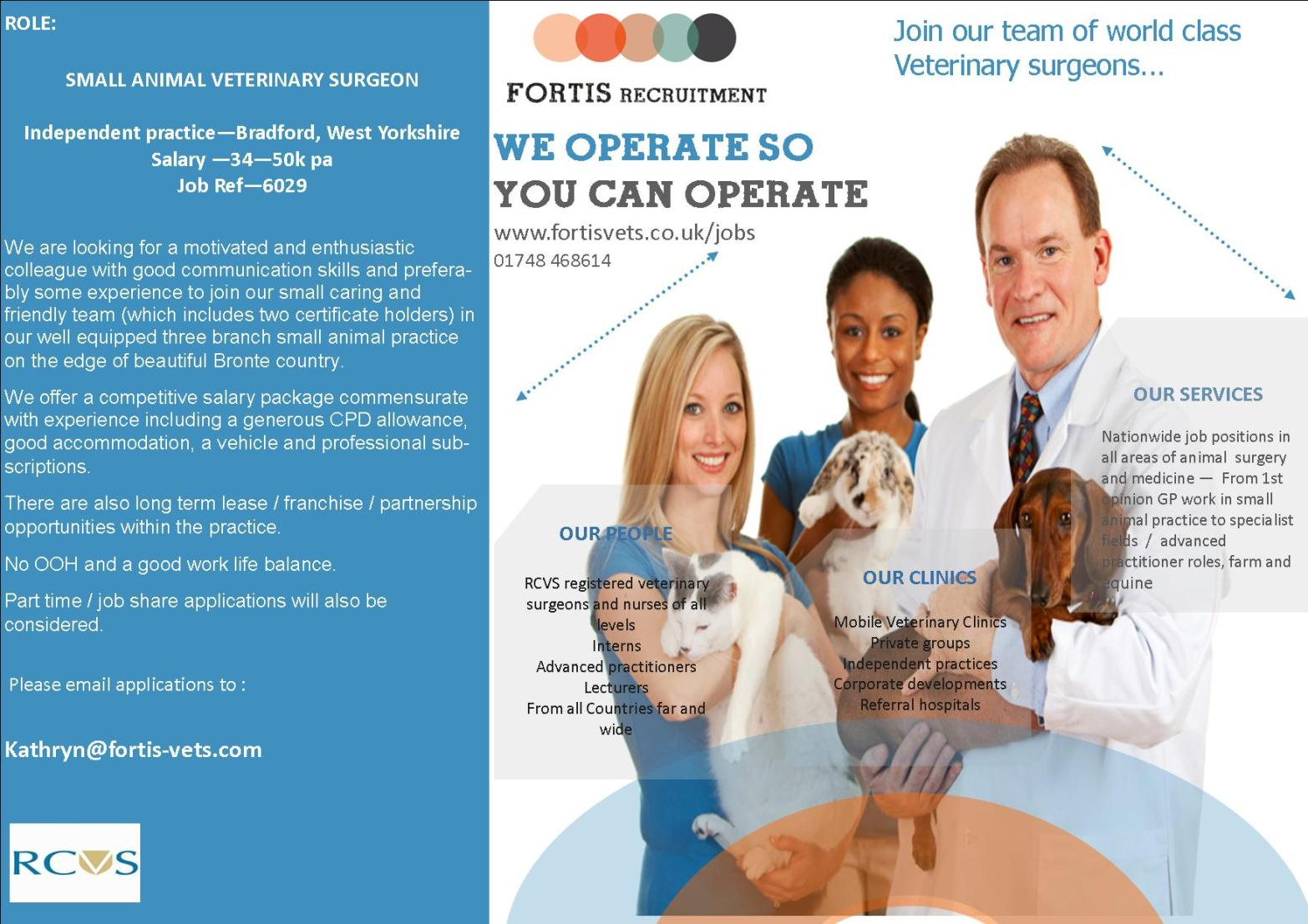 SMALL ANIMAL VETERINARY SURGEON 250118